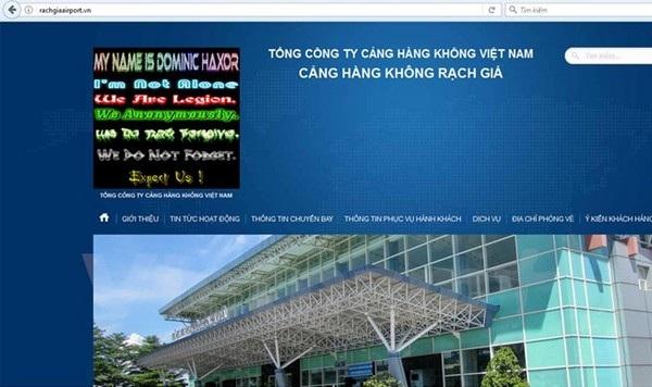 Hình ảnh để lại trên trang chủ của sân bay Rạch Giá...