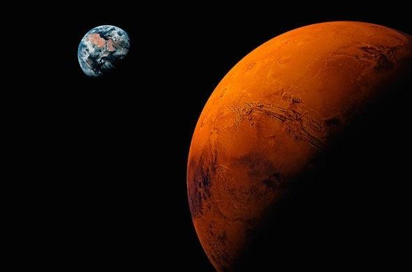Con người phải mất chín tháng để lên tới sao Hỏa.