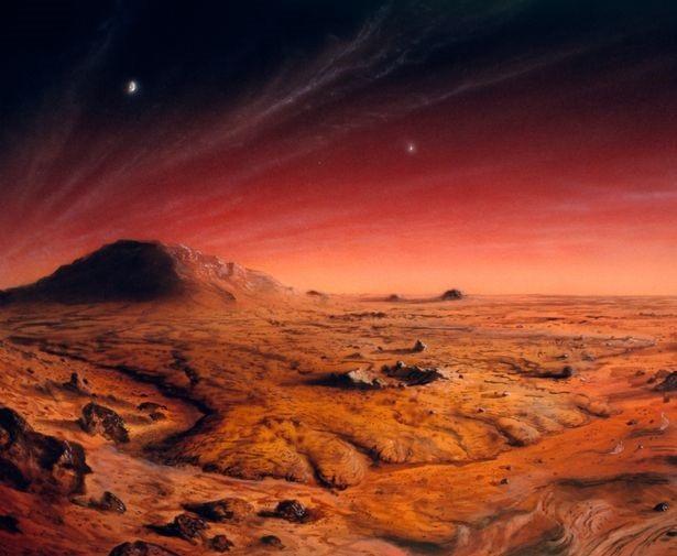 Hình ảnh minh họa bề mặt sao Hỏa.