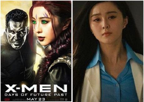 """Phạm Băng Băng từng khiến fan cine trong nước thất vọng với vai diễn siêu phụ trong """"Dị nhân 6: Ngày cũ của tương lai"""" (2014) và """"Người Sắt 3"""" (2013)."""
