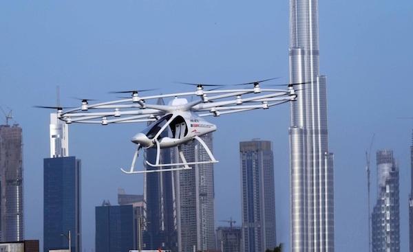 Taxi không người lái bay thử trên bầu trời Dubai. (Nguồn: The Gulf Today)
