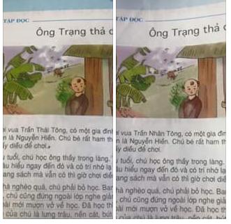 Một cuốn sách nhưng hai tên vua khác nhau (ảnh: internet)