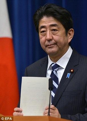 Thủ tướng Nhật Bản Shinzo Abe (Ảnh: EPA)