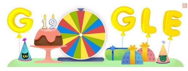 Biểu tượng đặc biệt được Google sử dụng để kỷ niệm ngày thành lập hôm 27/9 vừa qua