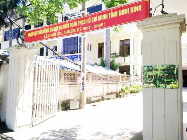 Sở Khoa học và Công nghệ Ninh Bình nơi ông Vũ Đức Dũng đang là Giám đốc (Ảnh: Thái Bá).