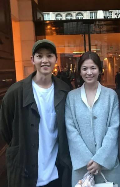 Song Hye Kyo và Song Joong Ki đi nghỉ tại Paris, Pháp trước đám cưới diễn ra vào tháng 10 tới.