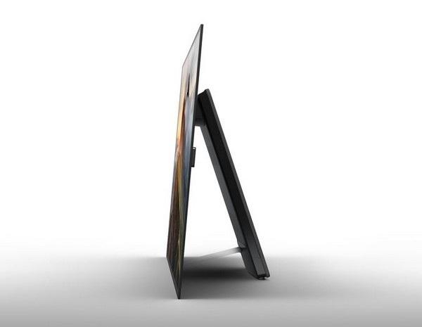 TV OLED của Sony có thiết kế siêu mỏng, với các phần linh kiện được đưa ra chân giá đỡ ở phía sau