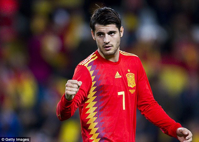 Morata để lại dấu ấn với một bàn thắng vào lưới Costa Rica