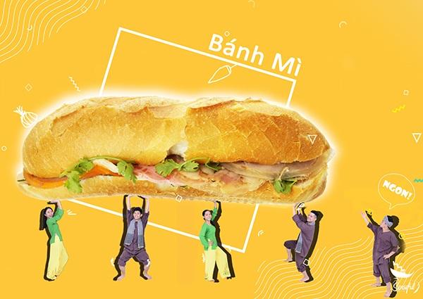 Bánh mỳ được giới thiệu đầu tiên trong danh sách 15 món ngon Việt Nam được các bạn trẻ chọn lựa để giới thiệu với các bạn bè quốc tế