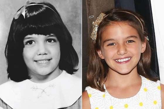 Suri Cruise, 10 tuổi, là sự kết hợp hoàn hảo về nhan sắc giữa Katie Holmes và Tom Cruise.