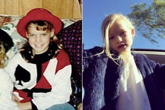 é Maxwell Johnson (phải), 4 tuổi, là con gái của nữ ca sĩ tóc vàng Jessica Simpson.