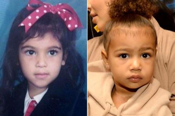 North West là con gái của Kim Kardashian và Kanye West. Cô bé 3 tuổi kế thừa đôi mắt to nâu trong sáng của mẹ ruột.