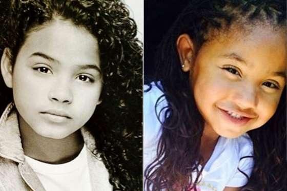 Christina Millan và nam ca sĩ The Dream có với nhau một cô con gái năm nay 6 tuổi, Violet Nash. Trong cùng một góc chụp, thật khóc phân biệt đâu là Christina thời nhỏ và bé Violet.