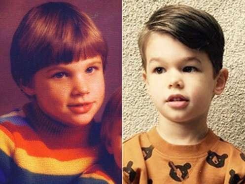 Camden, 4 tuổi, được khen giống hệt cha ruột khi còn nhỏ, nam ca sĩ Nick Lachey.
