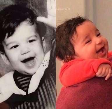 Mới 11 tuần tuổi, cậu nhóc Dream đã được khen giống cha ruột - Rob Kardashian qua nụ cười đáng yêu và trong sáng.