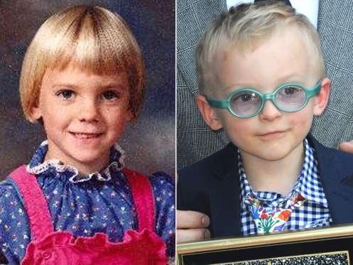 Cậu con trai 4 tuổi kế thừa mái tóc vàng của cha ruột - Chris Pratt.