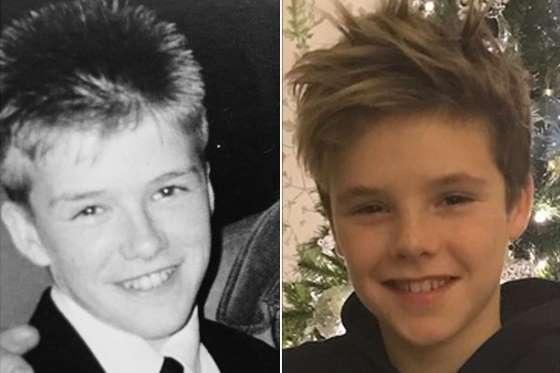 Trong số ba cậu con trai của David Beckham, cậu út Cruz, 11 tuổi, được khen là giống người cha điển trai và nổi tiếng nhất.