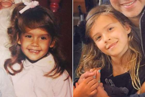 """Cô con gái 8 tuổi của """"thiên thần bóng tối"""" Jessica Alba - Cash Warren được xem như bản sao hoàn hảo của mẹ ruột vì cùng màu tóc, mắt nâu."""