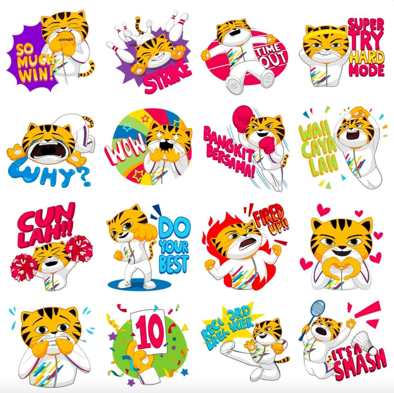 """Tải ngay bộ sticker """"chú hổ Malayan"""" mừng sự kiện thể thao SEA Games 2017 - 1"""