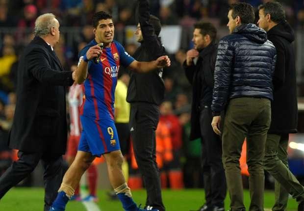 Bị đuổi khỏi sân trong trận gặp Atletico, Luis Suarez… kêu oan - 1