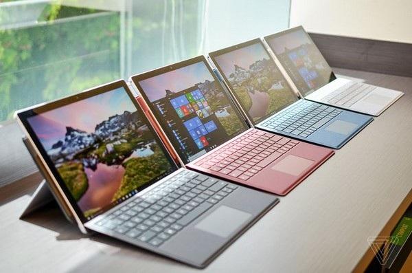 Surface Pro thế hệ mới có ít sự thay đổi về thiết kế nhưng nâng cấp mạnh về cấu hình