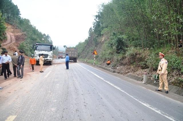 Đoạn đường nơi xảy ra vụ tai nạn giao thông.