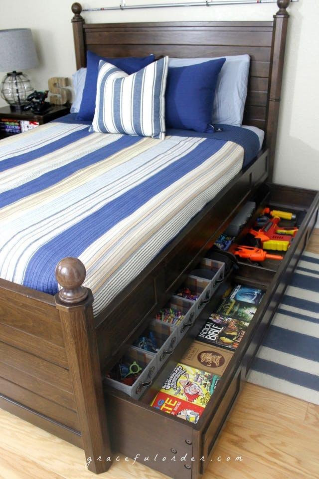 6 ý tưởng cất giữ đồ thông minh dưới gầm giường của bé - 5