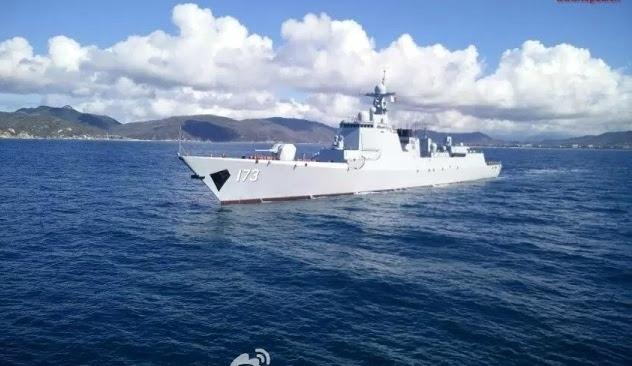 Tàu khu trục Type 052D mang số hiệu DDG-173 Changsha của hải quân Trung Quốc. (Ảnh: Weibo)