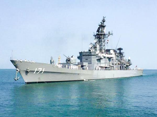 Một tàu chiến Nhật Bản. (Ảnh: KhmerTimes)