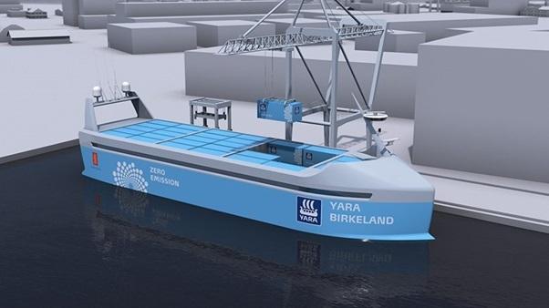 Nauy chế tạo tàu chở hàng không người lái đầu tiên trên thế giới - 1