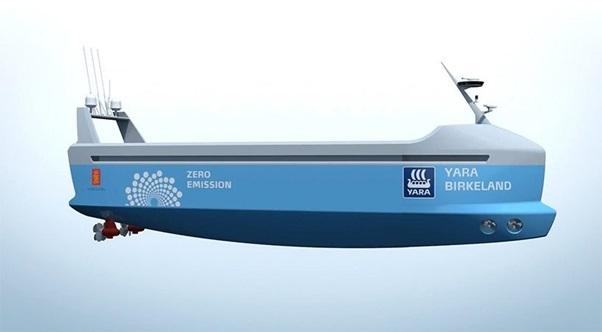 Tàu Yara Birkeland hiện vẫn đang trong quá trình sản xuất và dư kiến sẽ được hạ thủy tại cảng Larvik phía nam của Na Uyvào năm 2018.