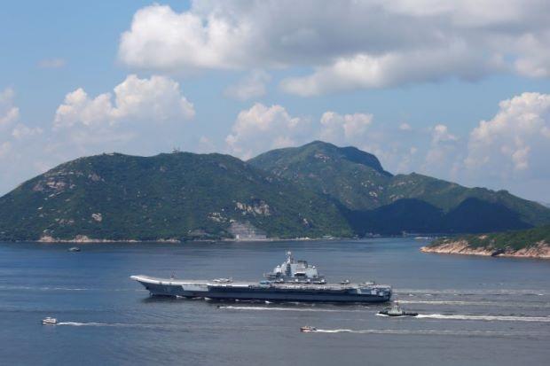 Tàu sân bay Liêu Ninh của Trung Quốc. (Ảnh: Reuters)