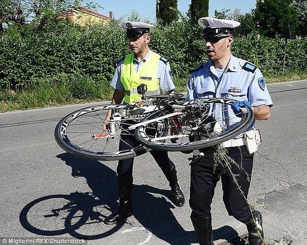 Chiếc xe đạp của Hayden sau tai nạn