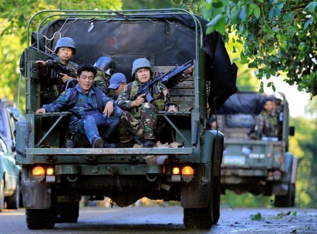 Philippines đã điều động lực lượng đặc nhiệm tới Marawi để giành lại quyền kiểm soát Marawi từ phiến quân. (Ảnh: Reutesr)