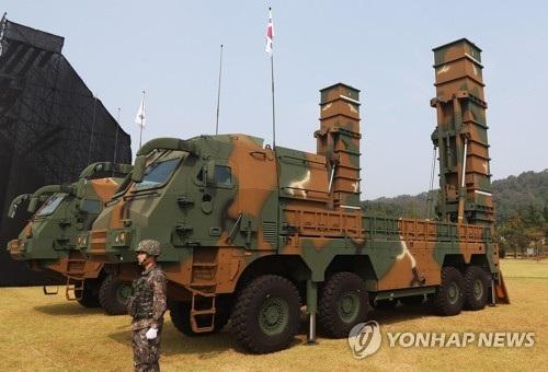 Tên lửa đạn đạo Huynmoo-2 (Ảnh: Yonhap)