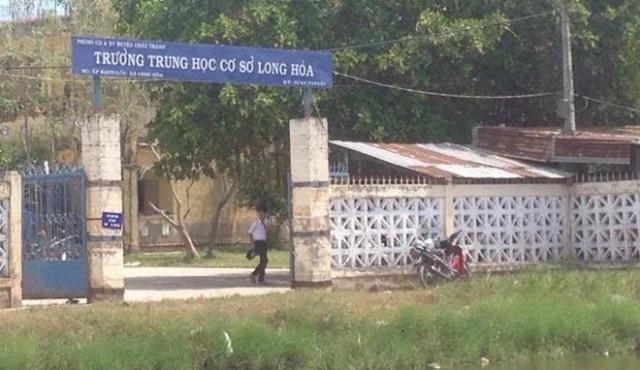 Trường THCS Long Hòa, nơi xảy ra vụ việc (ảnh: internet)