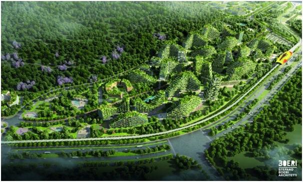 Dự kiến khi hoàn thành, thành phố rừng tương lai này sẽ là nơi sinh sống của khoảng 30.000 người.