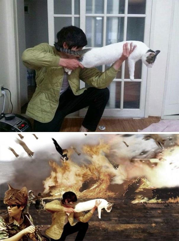 Tôi muốn mình giống như một người anh hùng giữa cuộc chiến.