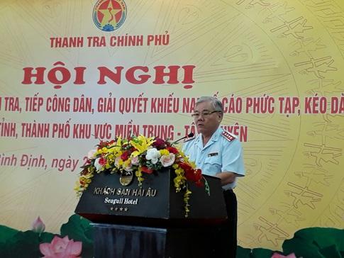 Tổng Thanh tra Chính phủ Phan Văn Sáu phát biểu tại hội nghị (Ảnh: TTCP).