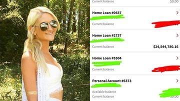 Clare Wainwright, một luật sư 26 tuổi đã trở thành triệu phú bất đắc dĩ khi ngân hàng chuyển nhầm 24,5 triệu USD vào tài khoản của cô. (Nguồn: 9News)