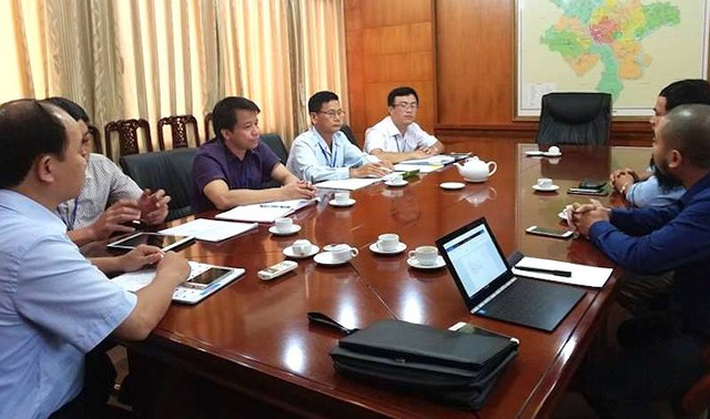 Phóng viên Báo Dân trí làm việc với lãnh đạo TP Bắc Giang