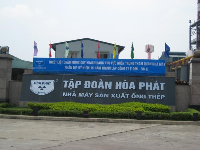 Tập đoàn Hoà Phát sẽ vay Vietinbank 10.000 tỷ đồng làm Thép Dung Quất