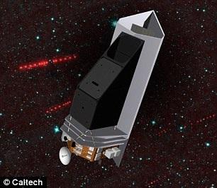 Hình ảnh mô tả kính viễn vọng NEOCam hoạt động trên quỹ đạo trái đất