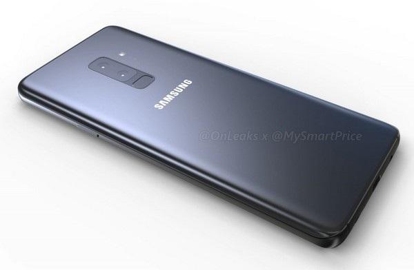 Bản dựng hoàn chỉnh được cho là của Galaxy S9+, với cụm camera kép và cảm biến vân tay ở mặt lưng