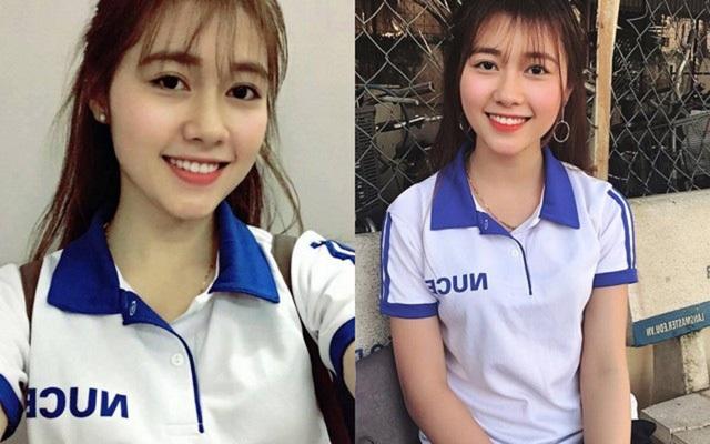 Nguyễn Bảo Thoa từng gây sốt trên mạng hồi tháng 3 vừa qua vì vẻ ngoài xinh đẹp.