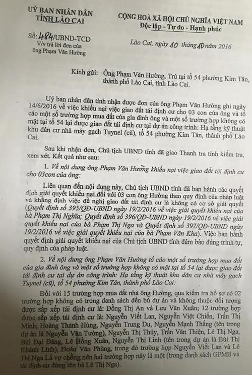 Dân khởi kiện, Toà thay đổi tư cách tố tụng của Chủ tịch TP Lào Cai và Chủ tịch tỉnh Lào Cai - 5