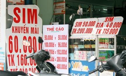 Các cửa hàng bán SIM nhỏ lẻ, kinh doanh SIM đã kích hoạt sẵn sẽ không còn được hoạt động (Ảnh minh họa)