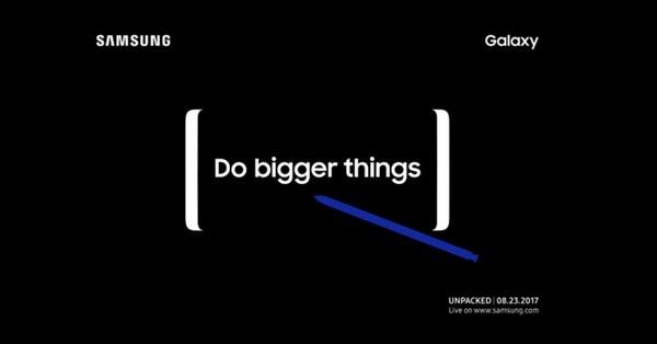 Thư mời sự kiện đặc biệt của Samsung, với các chi tiết hé lộ sự ra mắt của Galaxy Note 8