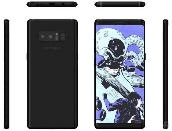 Ảnh các góc cạnh của Galaxy Note 8 vừa bị rò rỉ