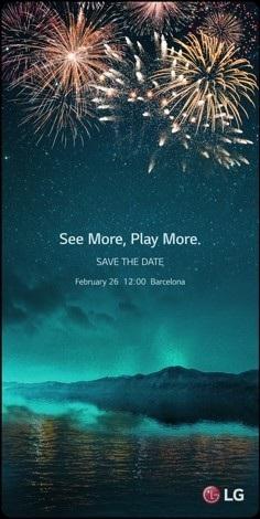 Thư mời sự kiện đặc biệt của LG có hình ảnh giống như hình nền của một chiếc smartphone